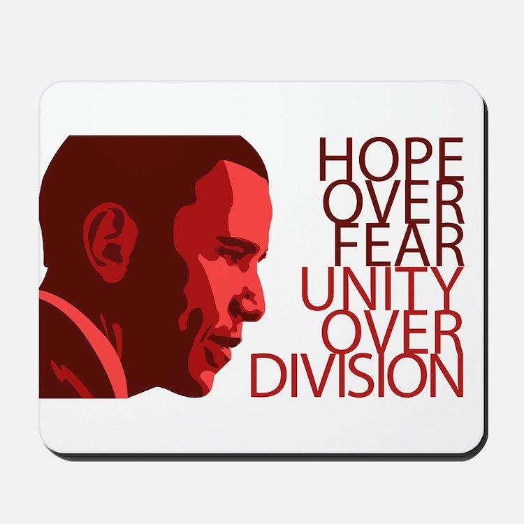 Obama Red Tones Mousepad