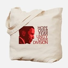 Obama Red Tones Tote Bag