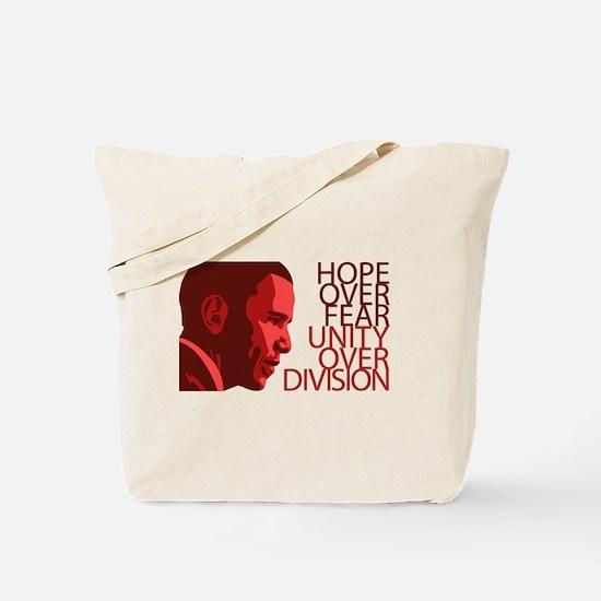 Obama Red Tones Tote Bag