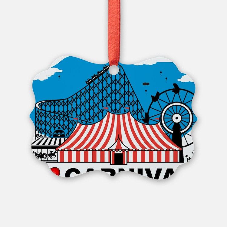 I Love Carnival Ornament