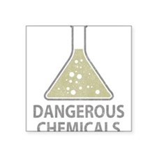 "Vintage Chemical Square Sticker 3"" x 3"""