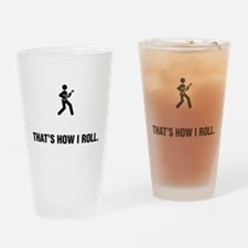 Ukulele Player Drinking Glass