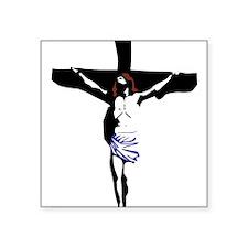 """Crucifix Square Sticker 3"""" x 3"""""""