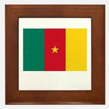 Cameroon Flag Picture Framed Tile