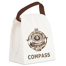 Vintage Compass Canvas Lunch Bag