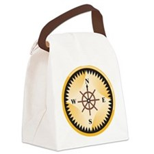 Retro Compass Canvas Lunch Bag