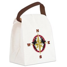 Sea Compass Canvas Lunch Bag