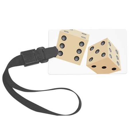 Classic Dice Large Luggage Tag