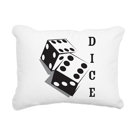 Dice Rectangular Canvas Pillow