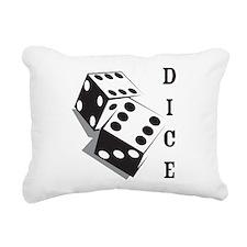 Dice Rectangular Canvas Pillow