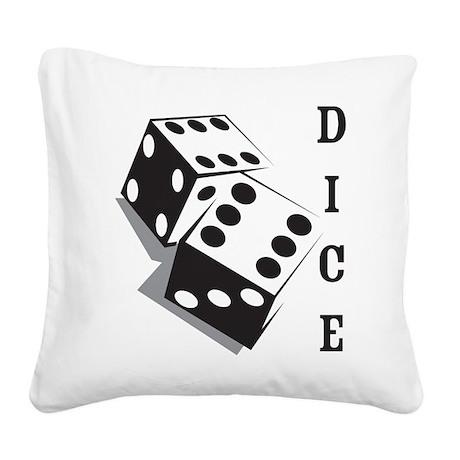 Dice Square Canvas Pillow