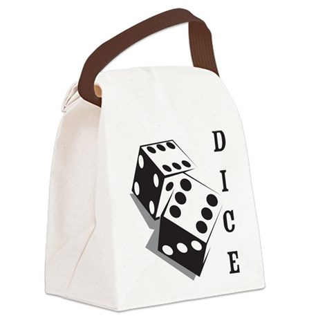 Dice Canvas Lunch Bag