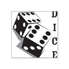 "Dice Square Sticker 3"" x 3"""