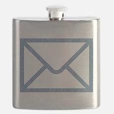 Vintage Email Flask