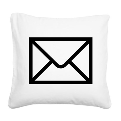 Email Square Canvas Pillow