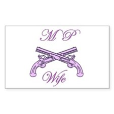 mp wife Rectangle Decal