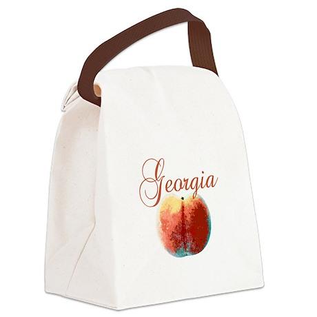 georgiapeach.png Canvas Lunch Bag