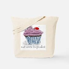 eat more cupcakes Tote Bag