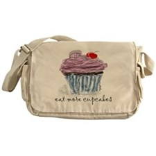 eat more cupcakes Messenger Bag