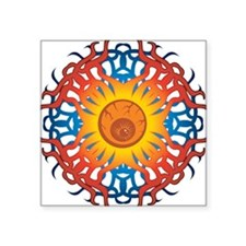 "Tribal Eye Square Sticker 3"" x 3"""