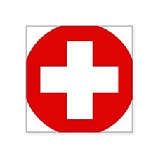 "First Aid Kit Square Sticker 3"" x 3"""