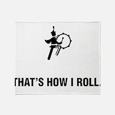 Bass Drum Player Throw Blanket