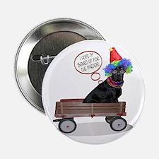 Black Lab Clown Button