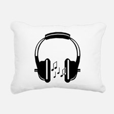 Headphone Rectangular Canvas Pillow