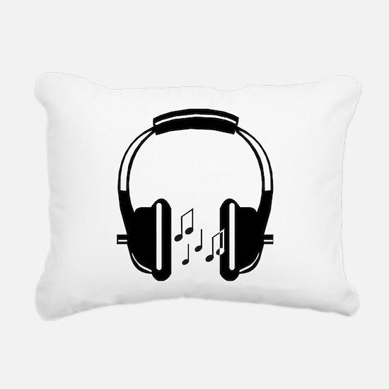 Headphone Rectangular Canvas Pillow
