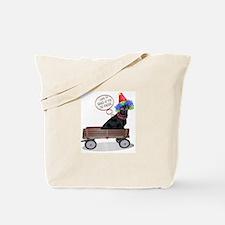Black Lab Clown Tote Bag