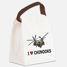 I Love Chinooks Canvas Lunch Bag
