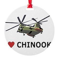 I Love Chinooks Ornament