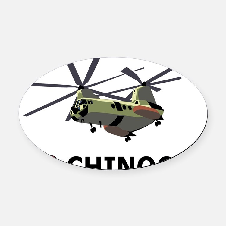 I Love Chinooks Oval Car Magnet