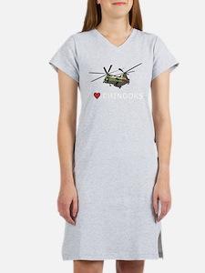 I Love Chinooks Women's Nightshirt