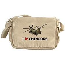 I Love Chinooks Messenger Bag