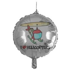 I Love Helicopter Balloon
