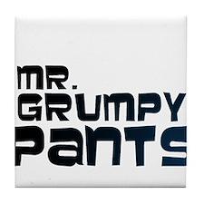 Mr Grumpy Pants Tile Coaster