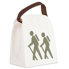 Vintage Hiking Canvas Lunch Bag