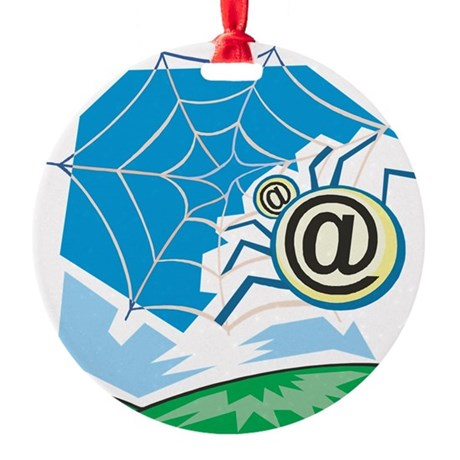 Web World Round Ornament