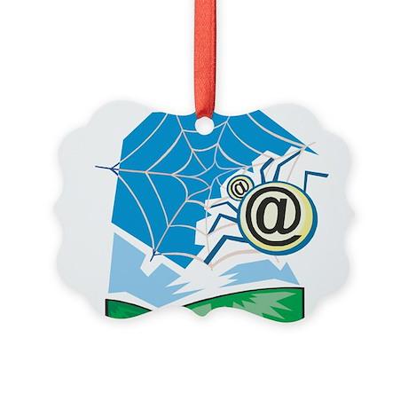 Web World Picture Ornament