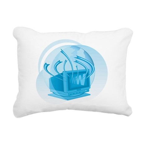 Computer Rectangular Canvas Pillow