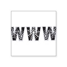 "www Square Sticker 3"" x 3"""