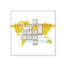 """World Wide Web Square Sticker 3"""" x 3"""""""