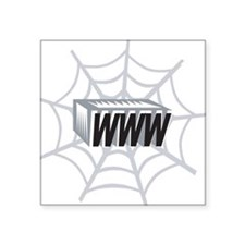 "Web Page Square Sticker 3"" x 3"""