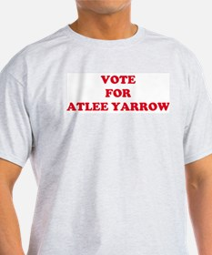 VOTE FOR ATLEE YARROW Ash Grey T-Shirt