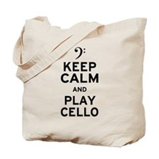 Keep Calm Cello Tote Bag