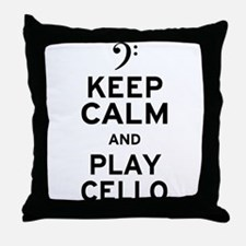 Keep Calm Cello Throw Pillow