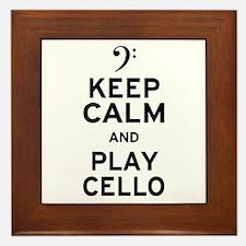 Keep Calm Cello Framed Tile