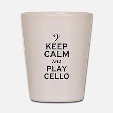 Keep Calm Cello Shot Glass