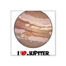 "I Love Jupiter Square Sticker 3"" x 3"""